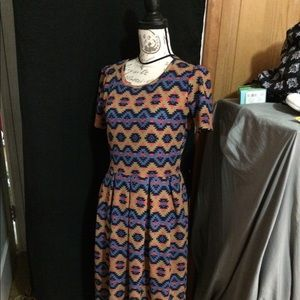 Lularoe Dress L Aztec Print EUC